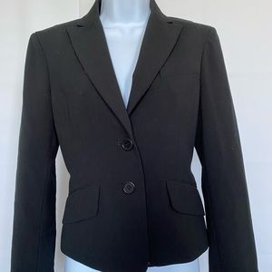BCBG Maxazria Sz XS Black Jacket Lined Tie Back